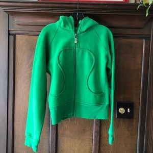 Green OG lululemon scuba hoodie
